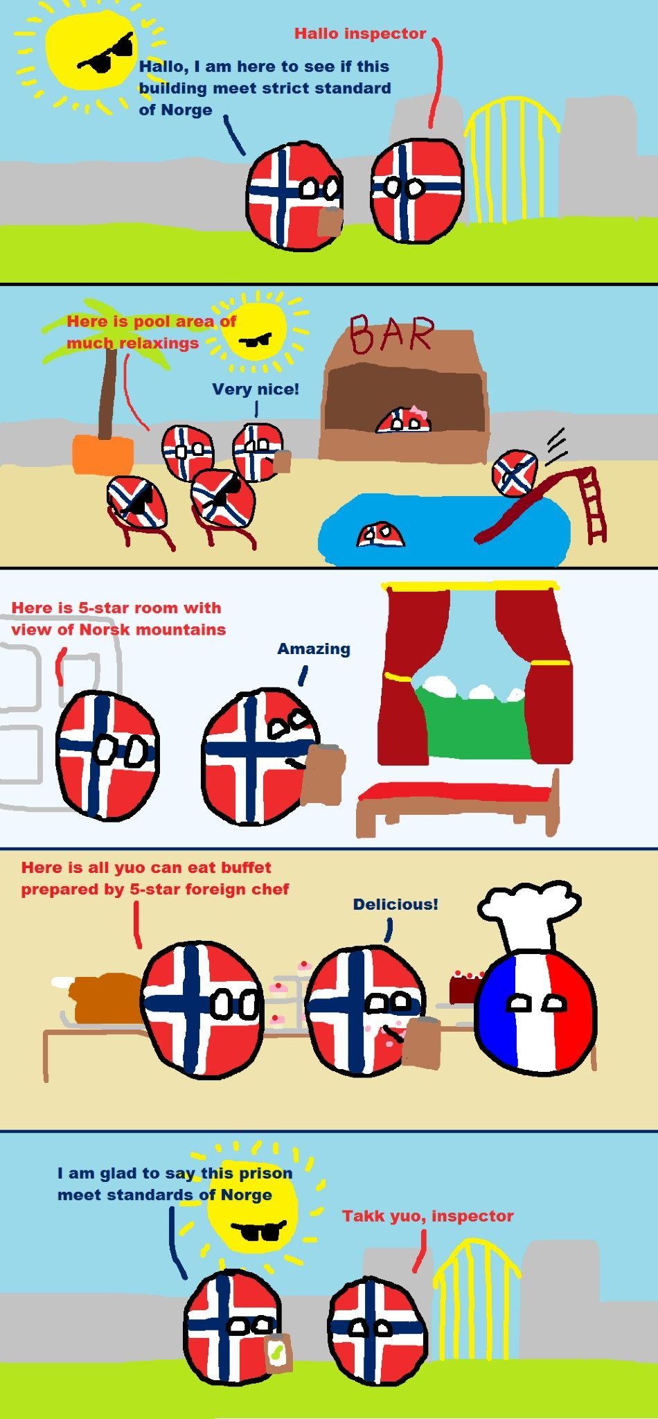 Norge Standards (Norway, France) - Polandball - Pinterest - Funny
