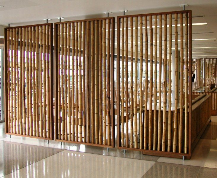 bamboo pole room divider