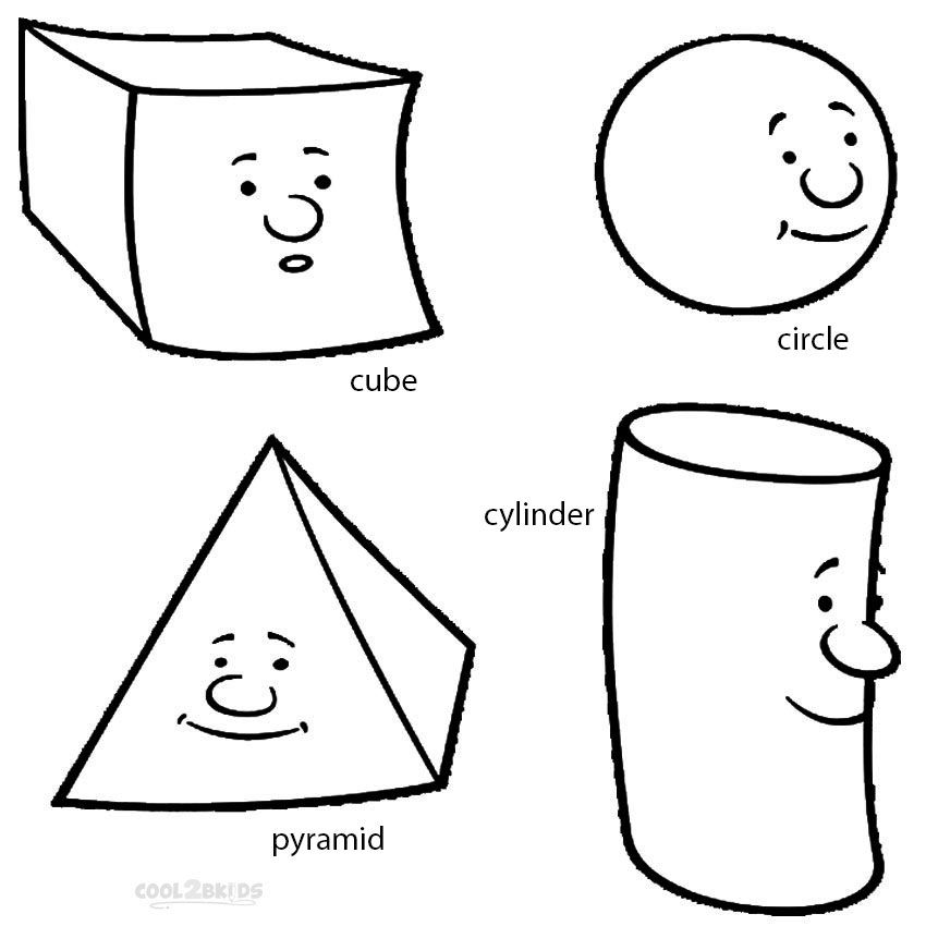 Printable Shapes Coloring Pages For Kids | Cool2bKids ...