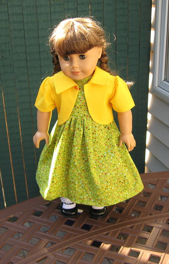American Girl 18 Inch Doll MultiColored Polka Dot by seamsdressy, $30.00