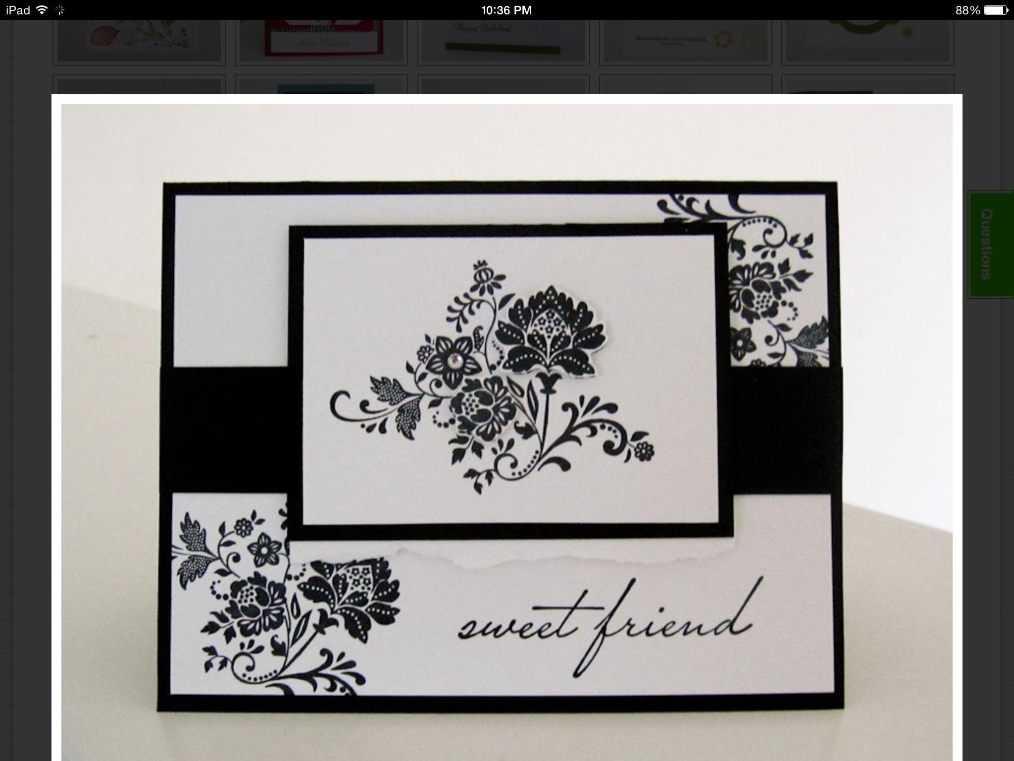 Поздравление, скрапбукинг открытка черно белая