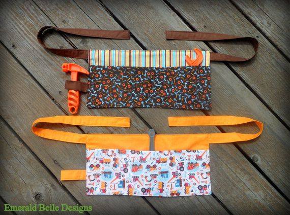 Tool Belt or Work Apron for Toddler/Boy by EmeraldBelleDesigns