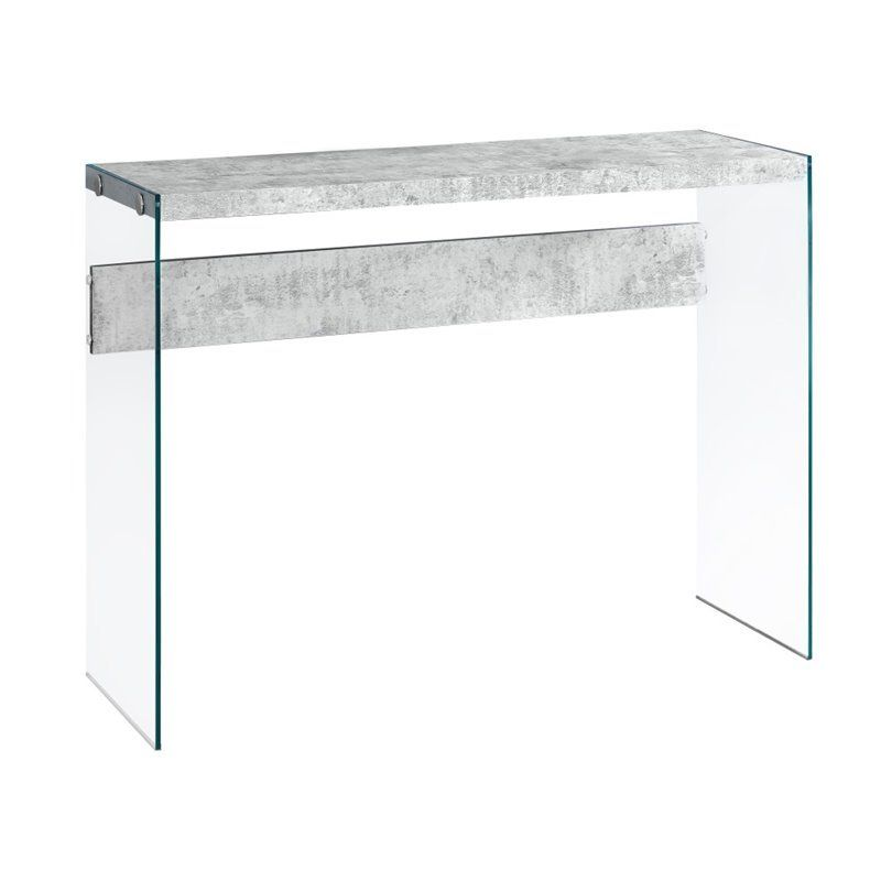 Monarch Console Table In Gray Cement In 2020 Hall Console Table Console Table Table