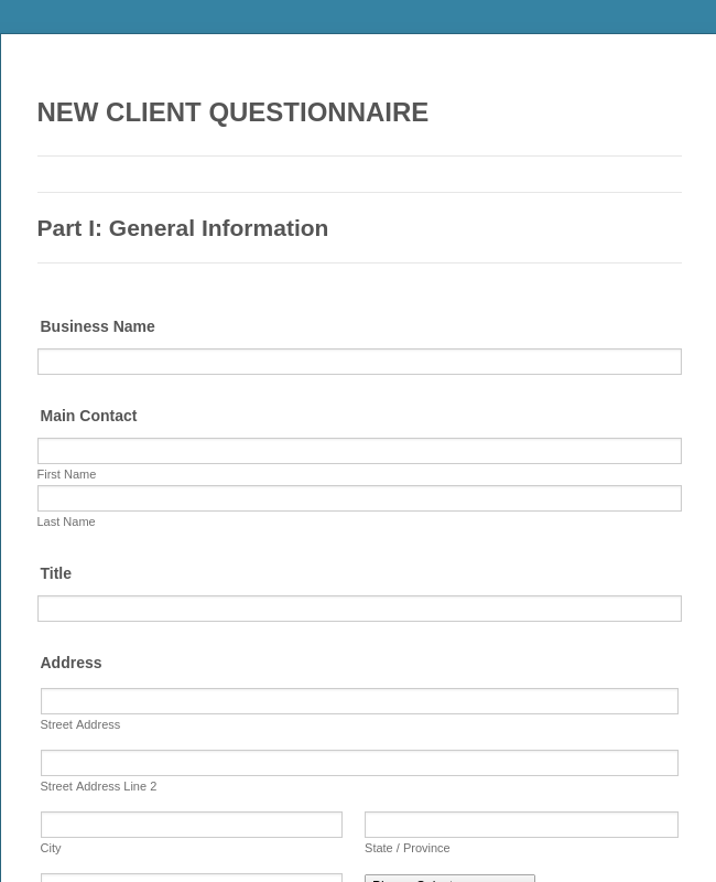 Home Insurance Questionnaire Template The 14 Secrets That