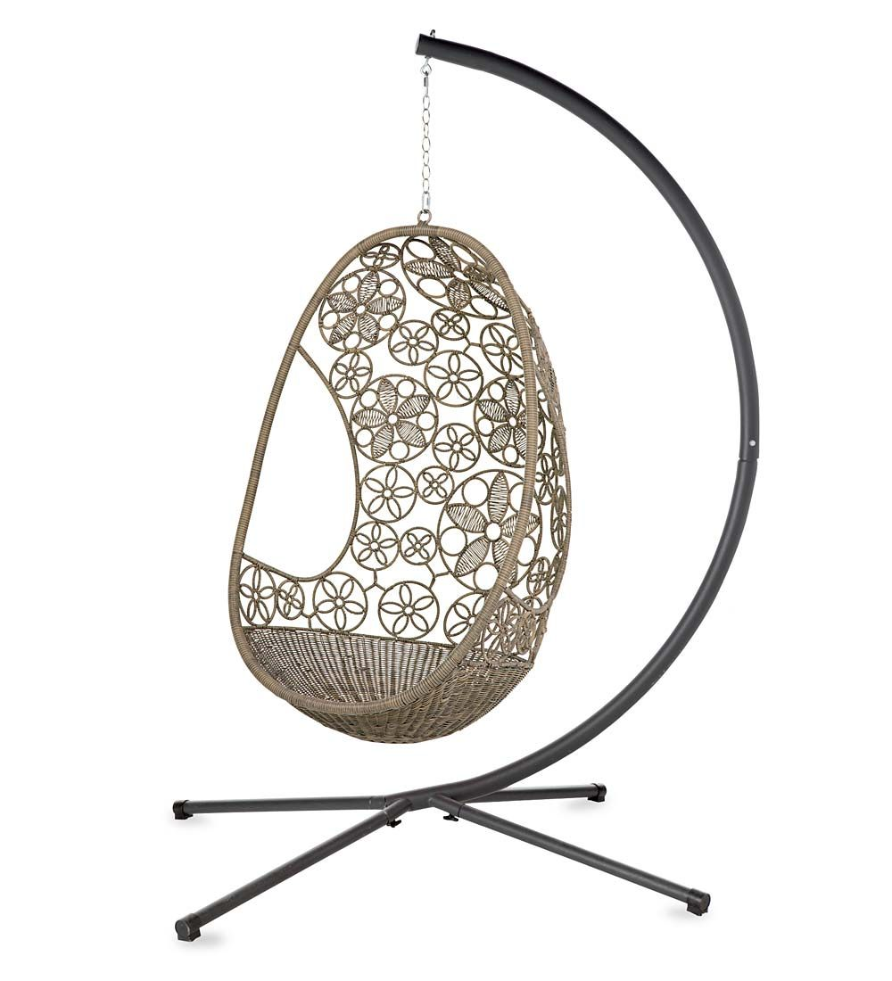 Woven Flower Pod Hanging Chair And Stand | Collection Accessories