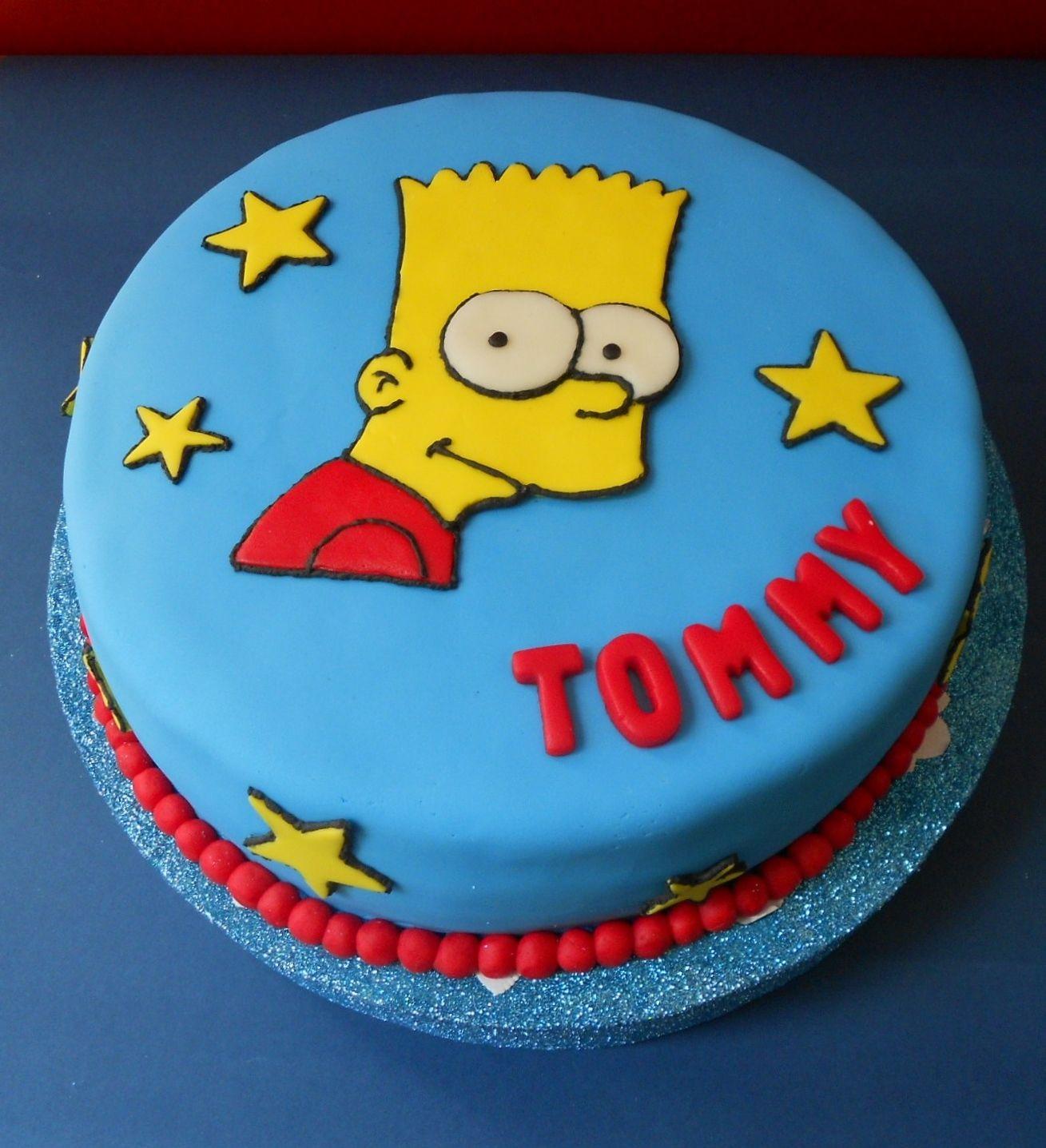 Bart Simpson Cake by Violeta Glace | Aroa | Pinterest | Geburtstage ...