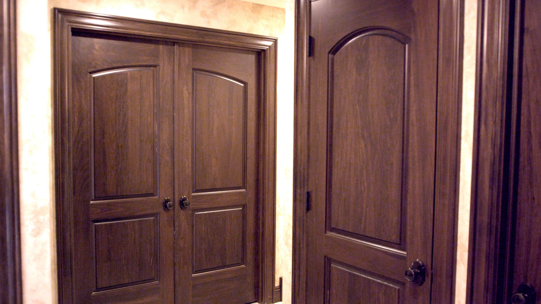 Custom poplar interior two panel continental closet door and two panel double bedroom door with custom & Custom poplar interior two panel continental closet door and two ...