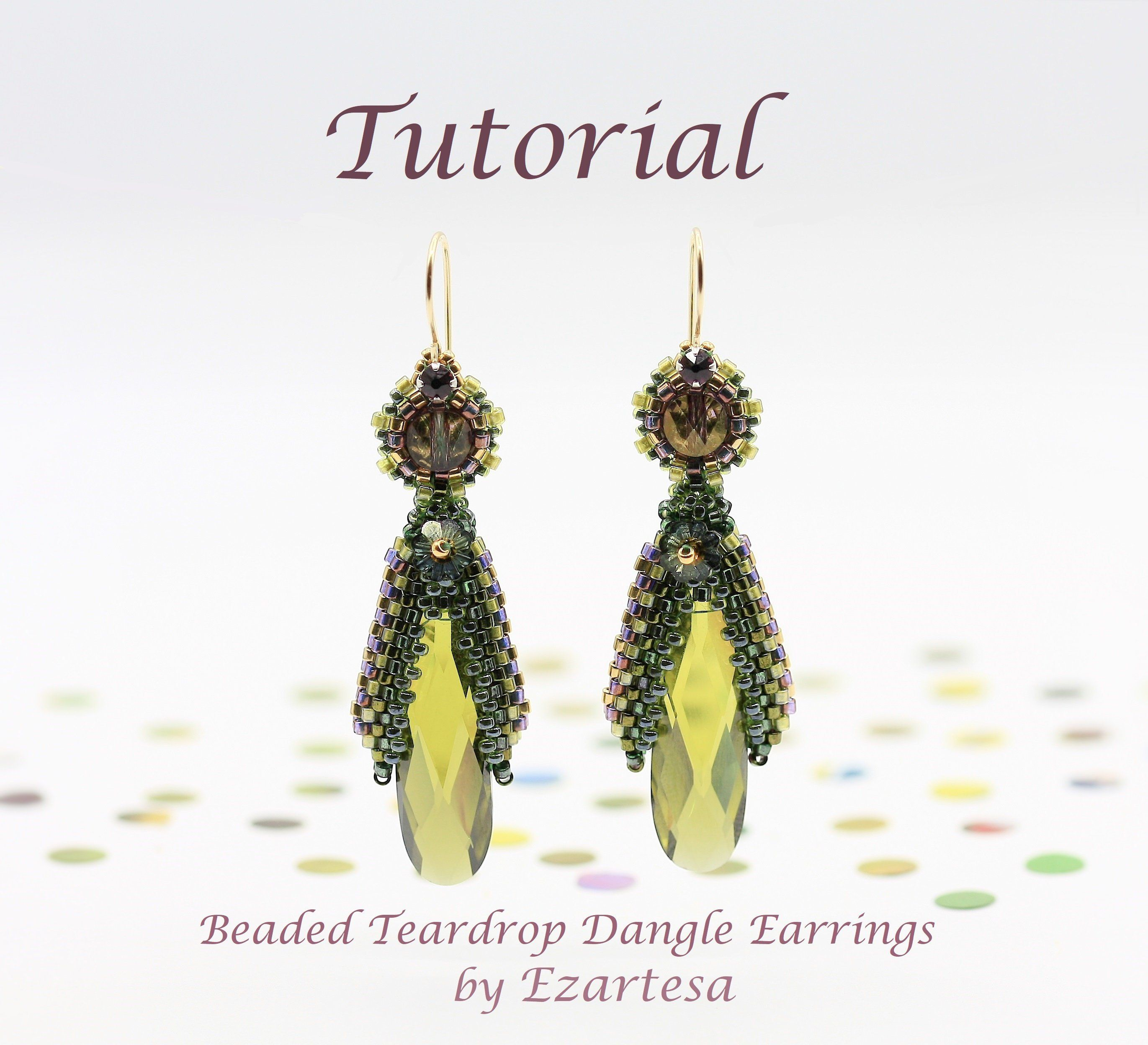 Beaded Teardrop Dangle Earrings Tutorial With Cubic Zirconia