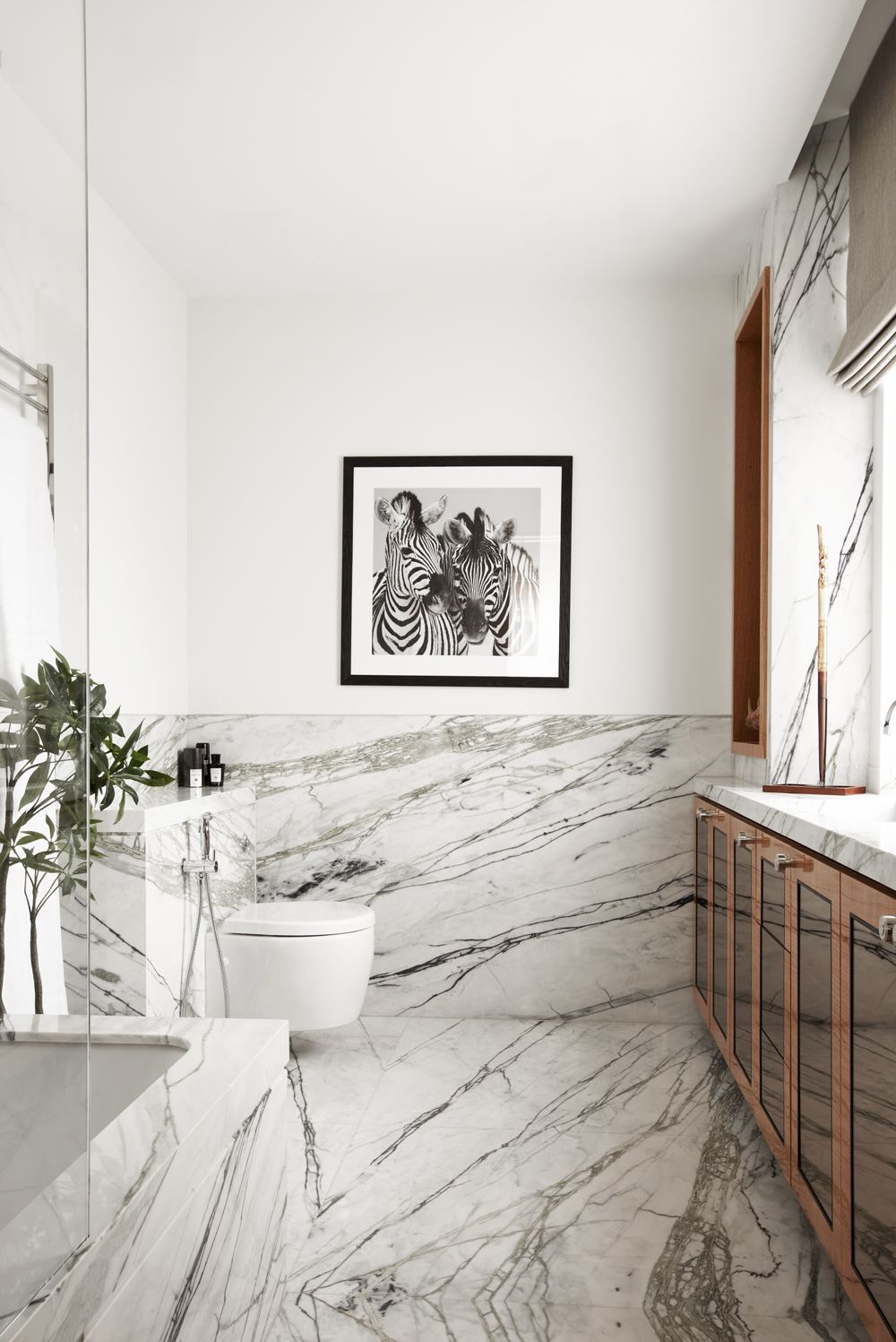 viyet bathroom inspriation all about the accents add warm wood tones to a heavy modern marble bathroommodern bathroomscarrara. beautiful ideas. Home Design Ideas