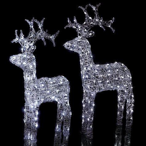 Buy john lewis outdoor led standing reindeer light white small buy john lewis outdoor led standing reindeer light white small online at johnlewis mozeypictures Gallery