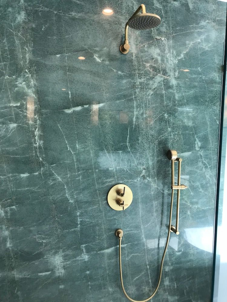 Photo of Green Marble & Brass