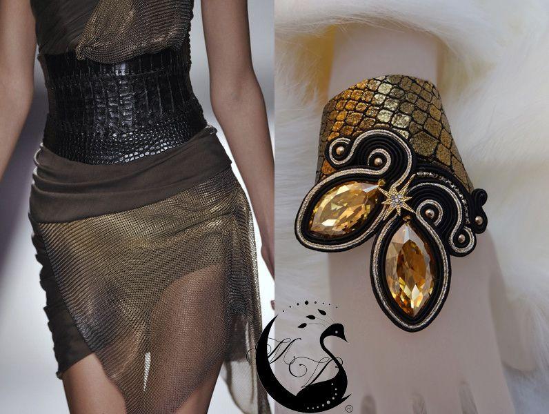 """Lo Scrigno dei Gioielli: """"Keep"""" Bracelet Soutache and Leather"""