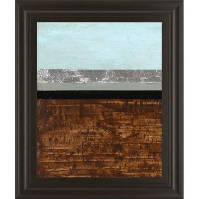 ClassyArtWholesalers Textured Light I by Natalie Avondet Framed Painting Print