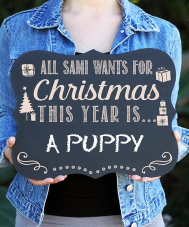 Another great find on #zulily! Christmas List Personalized Chalkboard Sign #zulilyfinds