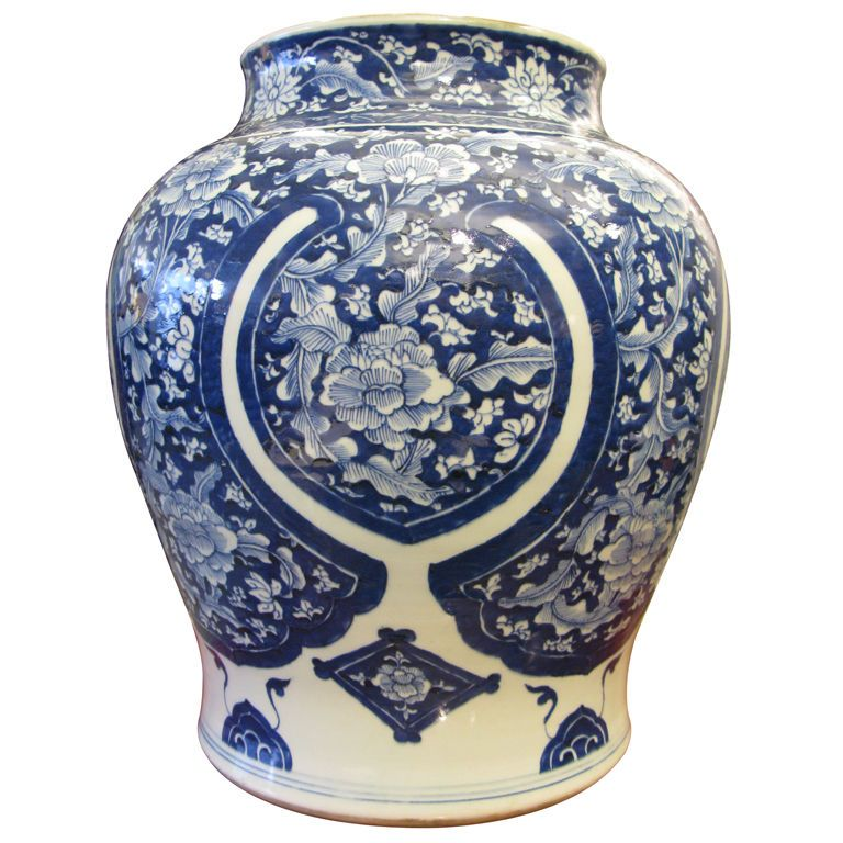 Very Large Chinese 19th C Vase 1stdibs Com Blue And White China Antique Vase Porcelain Blue