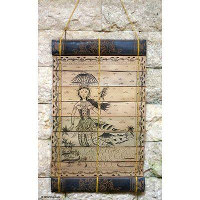 Novica The Flying Goddess Palm Leaf Wall Hanging