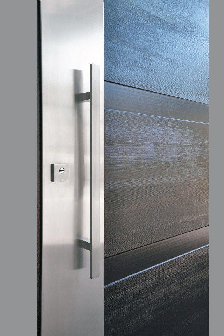 Panel para puertas blindadas de acero inoxidable y madera for Puertas blindadas
