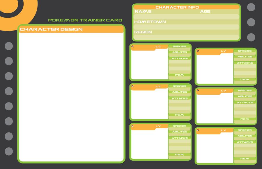 Pokemon Trainer Card Template Creative Professional Template In 2020 Pokemon Trainer Card Card Template Pokemon Trainer