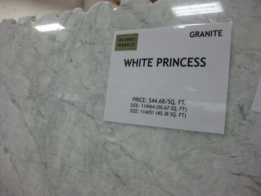 white princess granite (actually quartzite) gives a ...