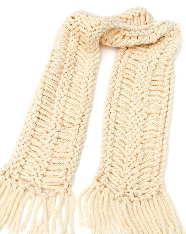 Free Knitting Pattern for Easy Drop Stitch Scarf - This ...