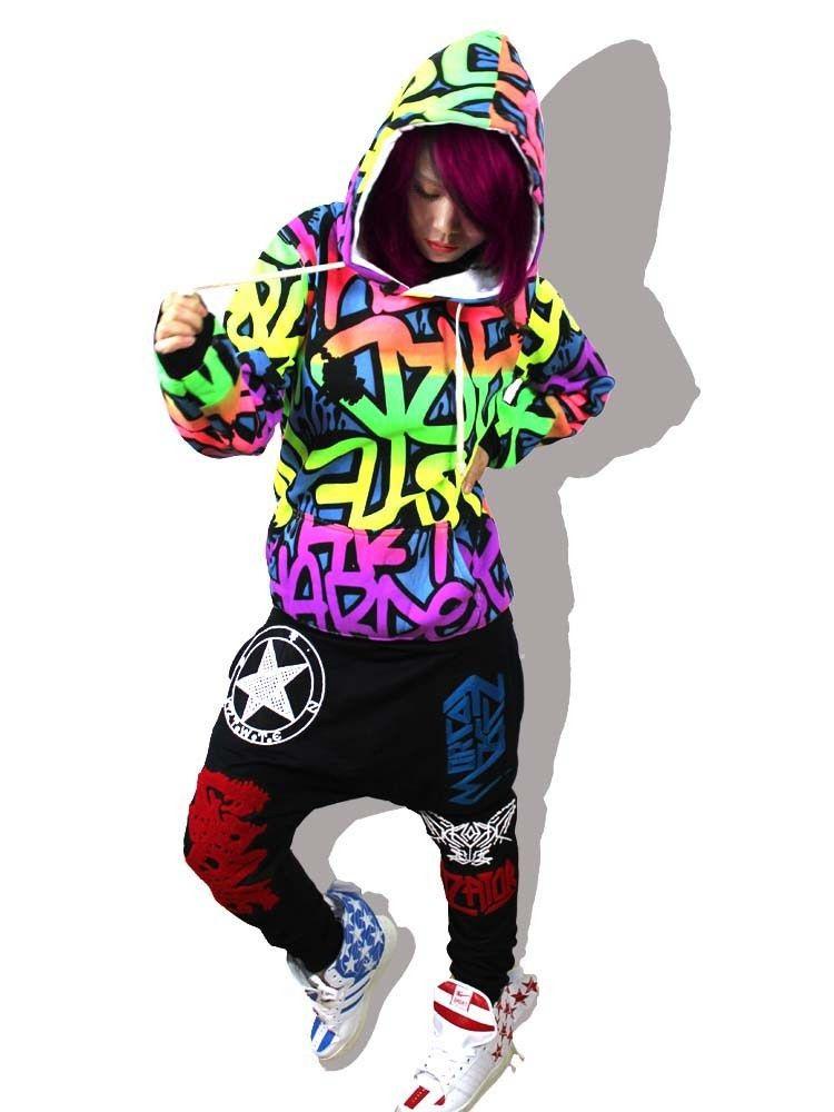 Fashion Dance Costumes Jazz Hip Hop Women Top T Shirt Street Dance Wear-inHoodies U0026 Sweatshirts ...