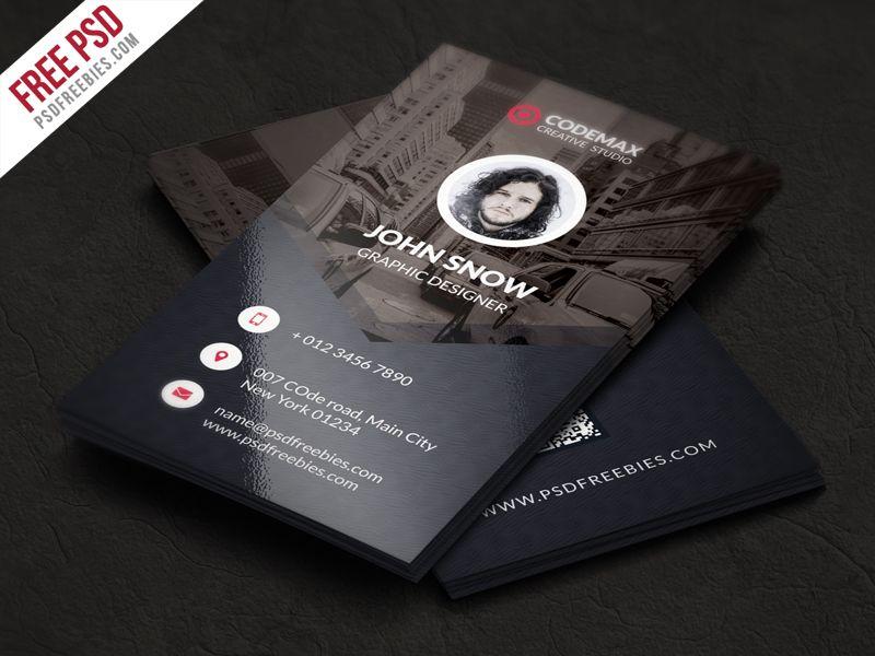 Modern Business Card Free PSD Template Psd Templates Business - Editable business card templates free
