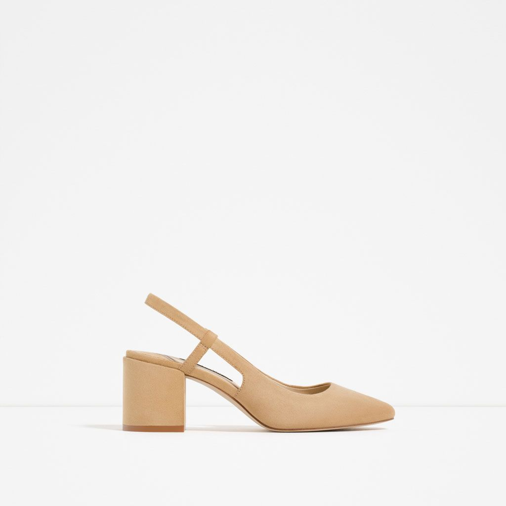 Image 2 of HIGH HEEL SLINGBACK SHOES from Zara