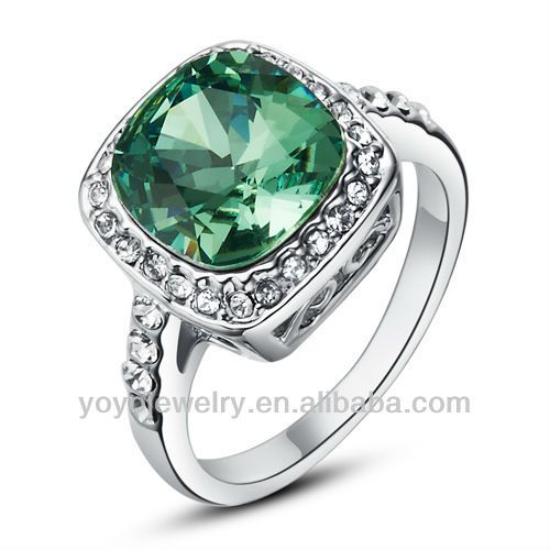 Fashion White Golden Emerald Ring For OemOdm Buy Emerald Ring