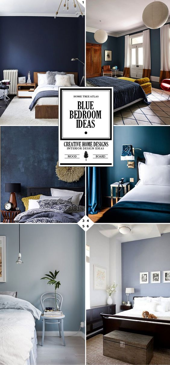 Style guide blue bedroom ideas and designs human body pinterest chambres parentales - Chambre a coucher atlas ...