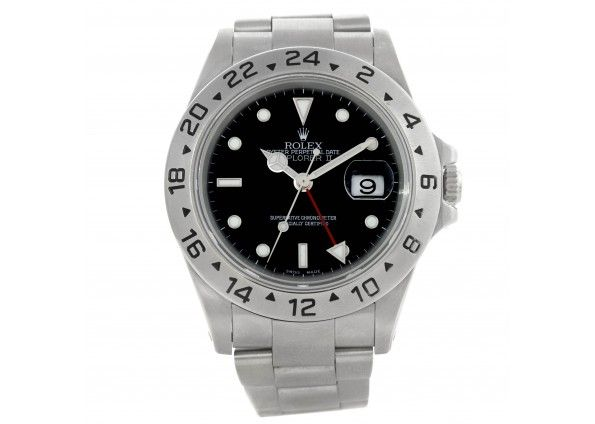 Rolex Explorer II Mens Steel Black Dial Watch 16570