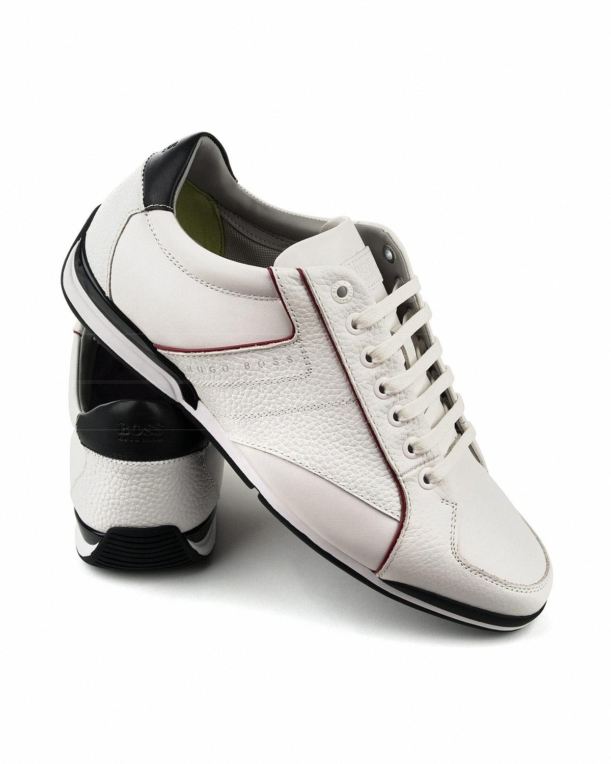 2d5510e56 Hugo Boss White Shoes - Saturn Lowp Lux3 en 2019 | Hugo Boss | Hugo ...
