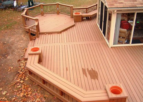 Wood Deck Design Ideas exteriorcomfy outdoor backyard garden wood deck design ideas with concrete stone footpath plus green Photos Of Deck Floor Patterns Deck Design This Deck Floor And Fence