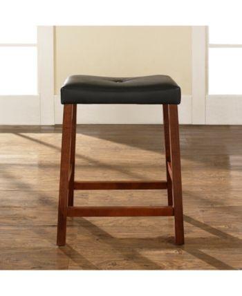 Upholstered Saddle Seat Bar Stool With 24 Seat Height Set Of 2 Red Saddle Seat Bar Stool Counter Stools Stool