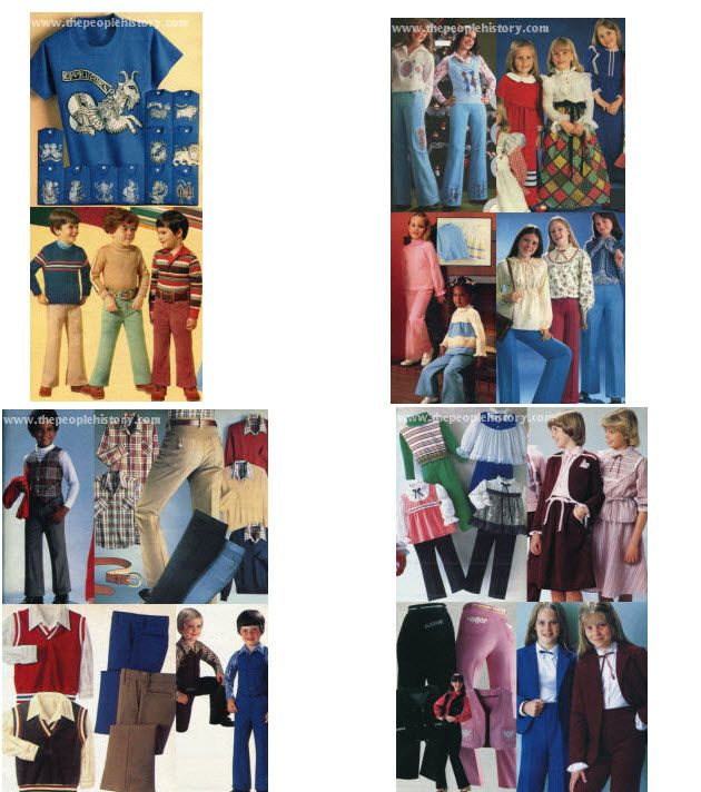 1970 S Kids And Teen Clothes From The Seventies Including