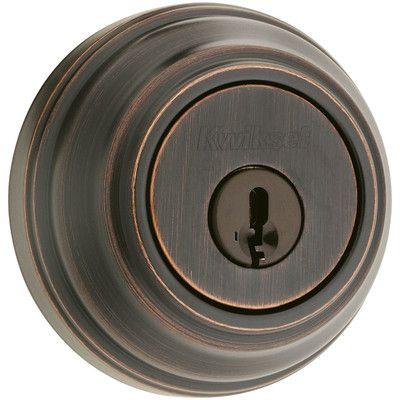Kwikset 980 Single Cylinder Deadbolt with Smartkey Finish: Venetian Bronze