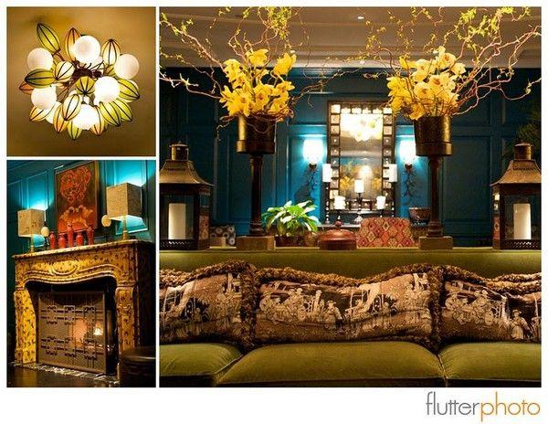 Hotel Monaco Lobby wedding-details