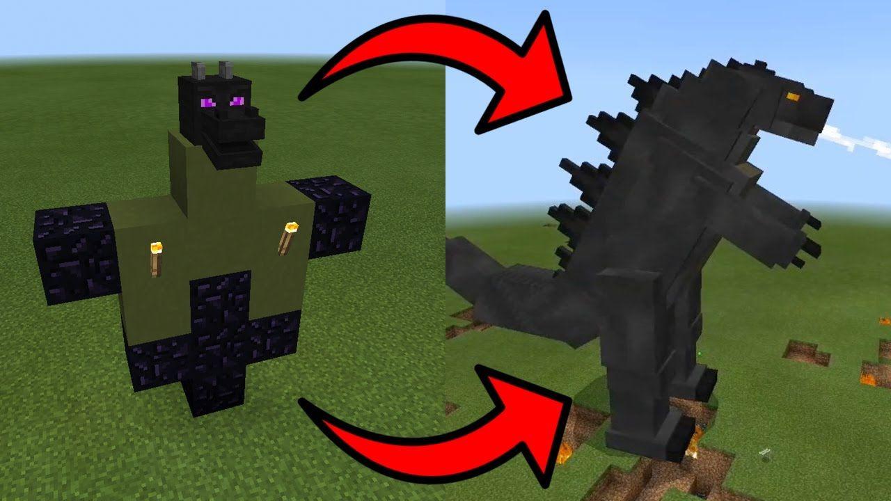 How To Spawn Godzilla in Minecraft PE  Godzilla, Minecraft pe, Spawn