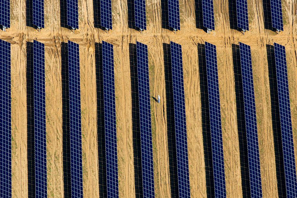Solar field workers