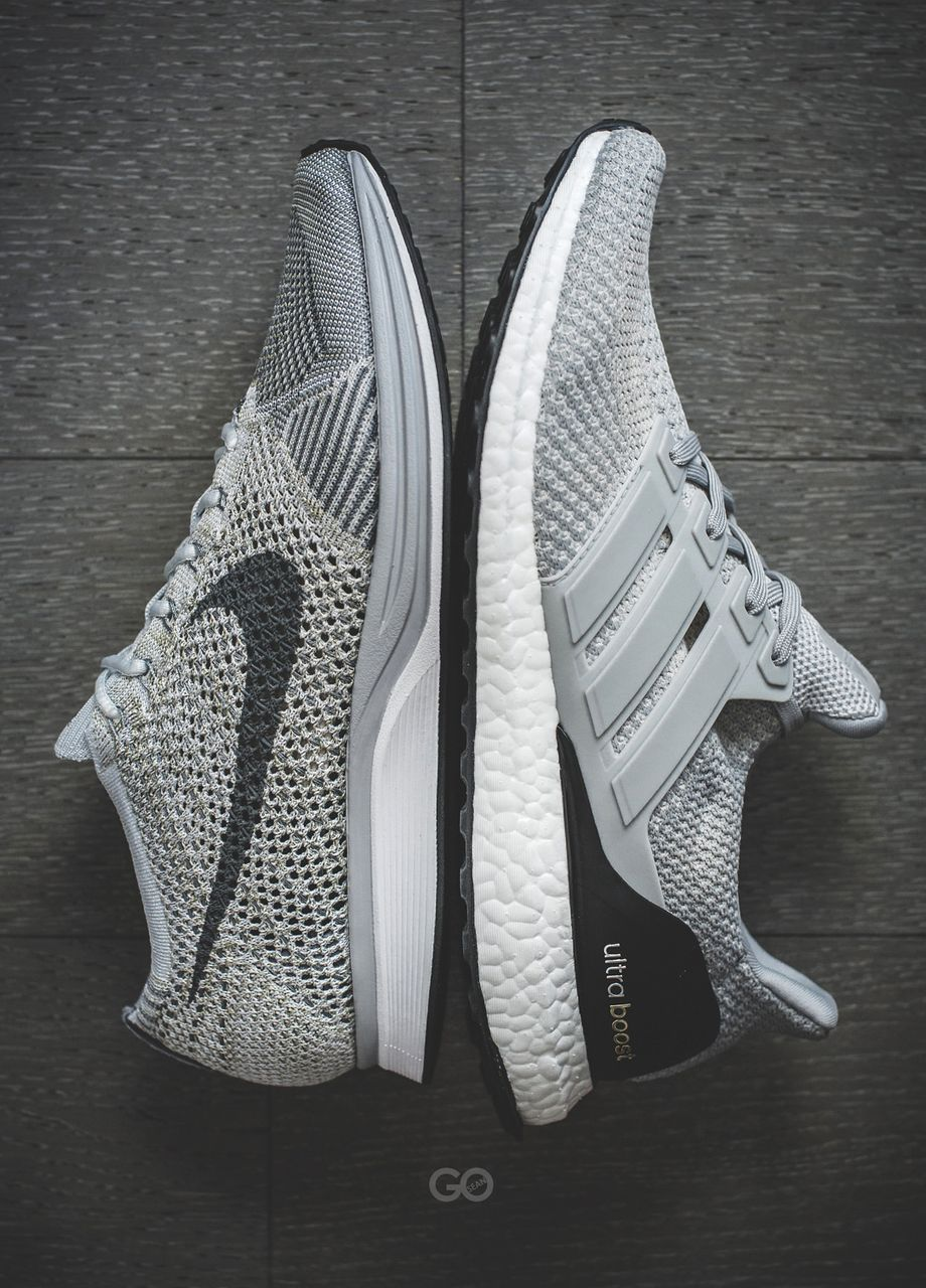 nike flyknit racer vs adidas ultra boost kicks. Black Bedroom Furniture Sets. Home Design Ideas