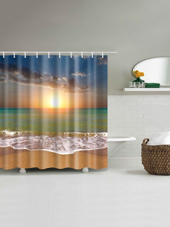Sunset Beach Water Resistant Shower Curtain Shower Curtain Curtains Cheap Shower Curtains