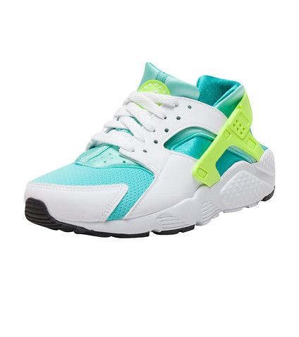 NIKE GIRLS HUARACHE RUN SNEAKER White
