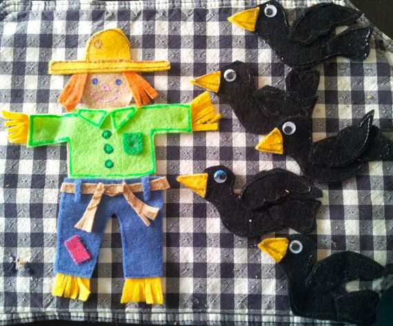 5 Crows Felt Board Story by PlayLearnDo on Etsy, $10.00 - so fun!