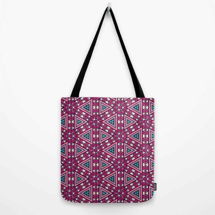 Pink Tribal Tote Bag by Jude's | Society6