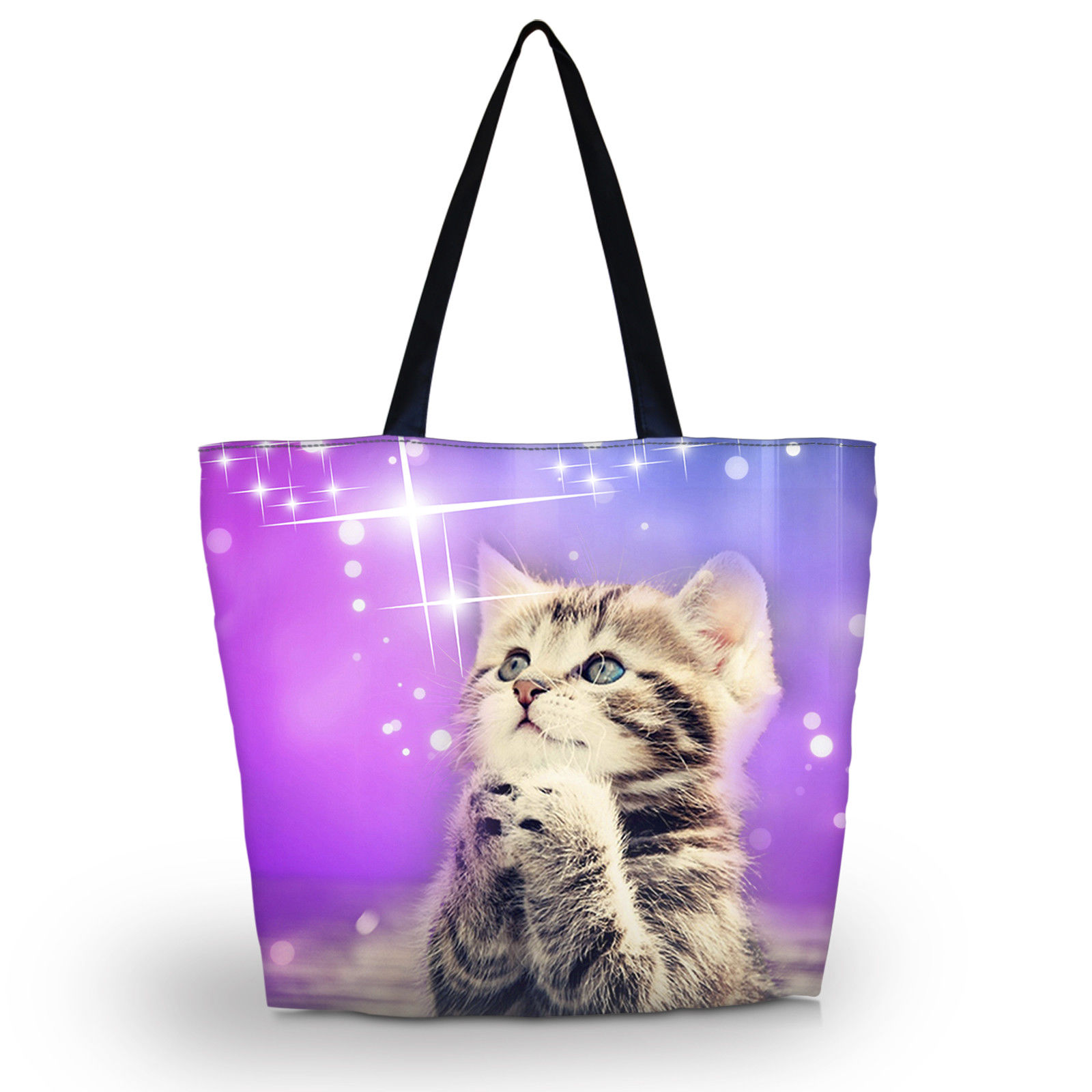 e68e31d0c9b ... Bags Casual Canvas  classic style 6b967 9d0ba 9.49 AUD - Cute Cat  Reusable Bag Tote Womens Shopping Bag Shoulder ...