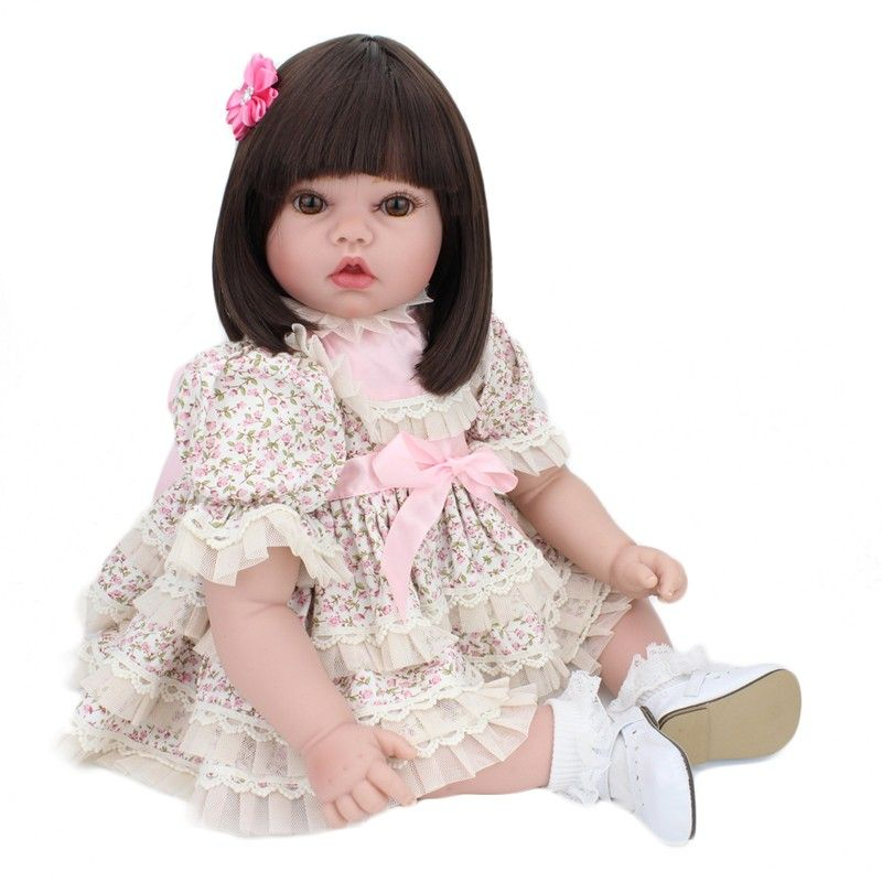 20 Polegadas Silicone Renascer Baby Doll Bonito 55 Cm Brinquedos