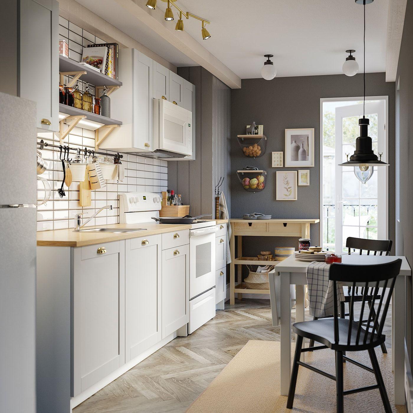 IKEA   KNOXHULT Kitchen gray   Идеи икеа, Кухня ikea, Интерьер