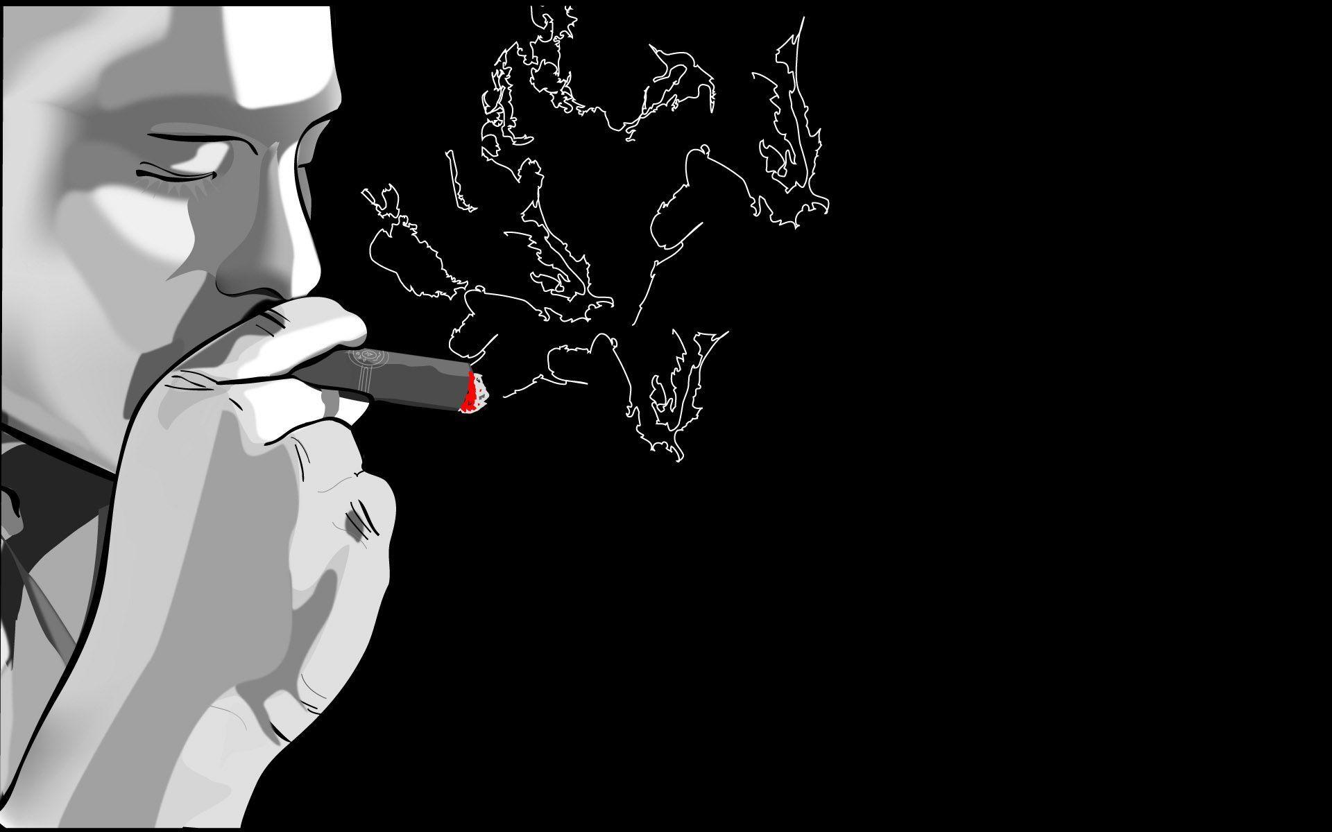 Cigarette Smoke Wallpaper 2479