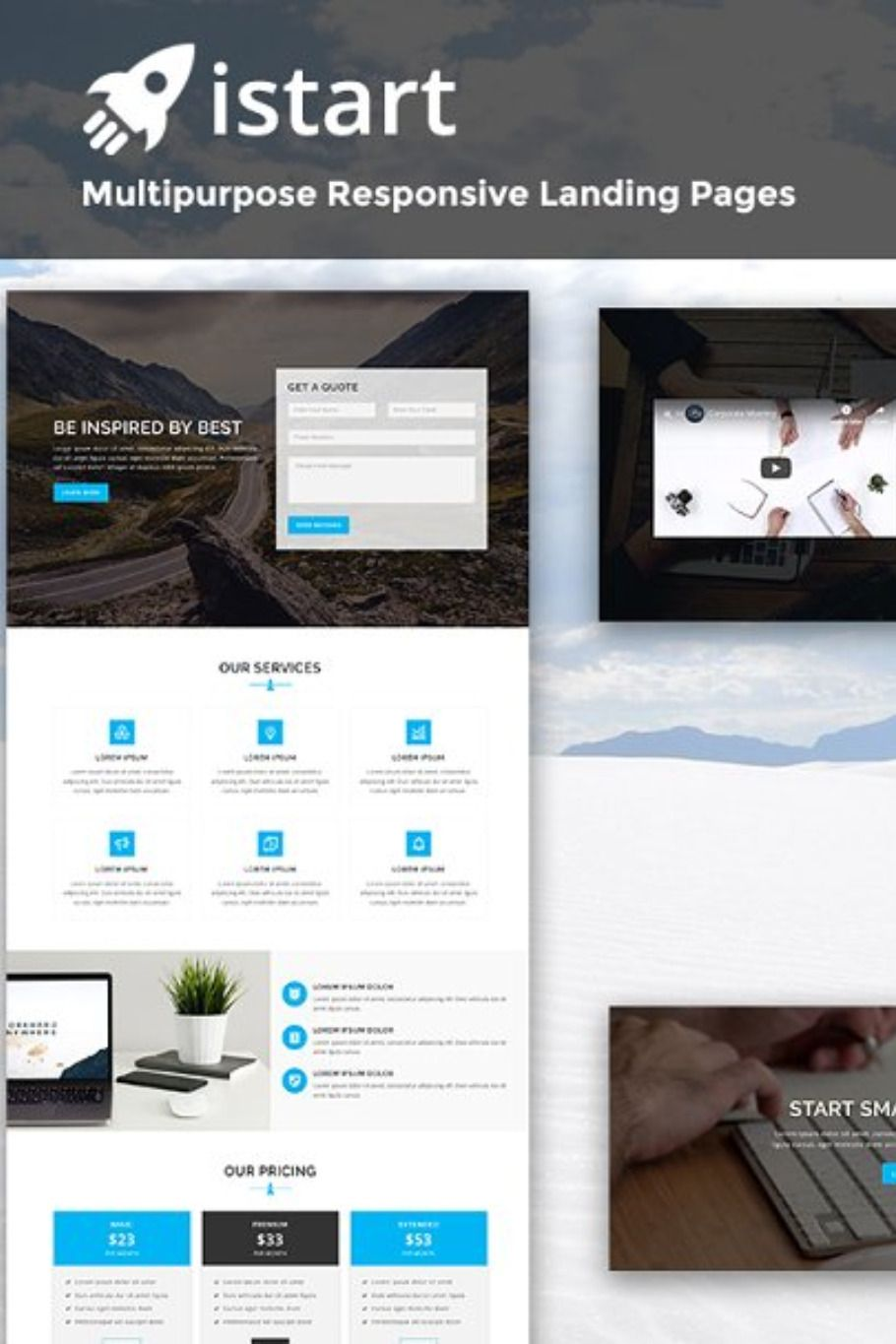 Istart Responsive Html Landing Page With Images Landing Page