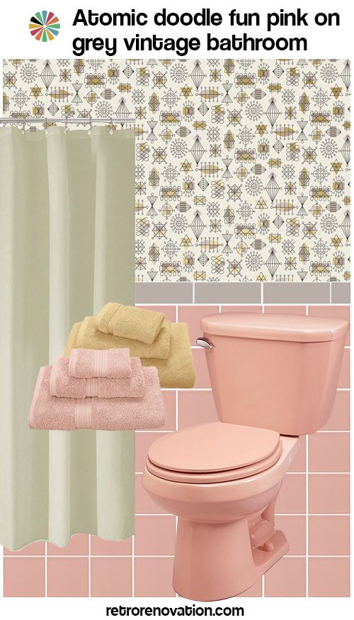 12 Ideas To Decorate A Pink And Gray Vintage Bathroom Pink Bathroom Decor Pink Bathroom Grey Bathrooms