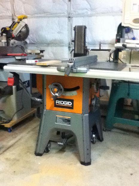 Saw pal installation on a rigid r4512 table saw pinterest saw pal installation on a rigid r4512 table saw greentooth Gallery
